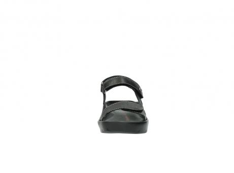 wolky sandalen 1126 bullet 200 zwart leer_19