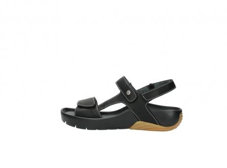 wolky sandalen 1126 bullet 200 zwart leer_2