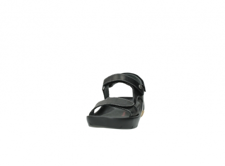 wolky sandalen 1126 bullet 200 zwart leer_20