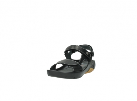 wolky sandalen 1126 bullet 200 zwart leer_21