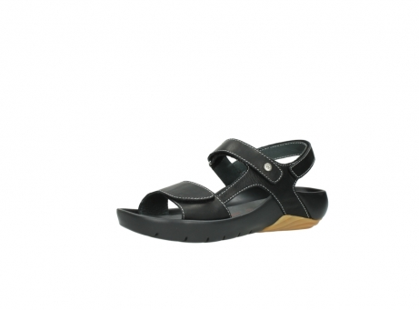 wolky sandalen 1126 bullet 200 zwart leer_23