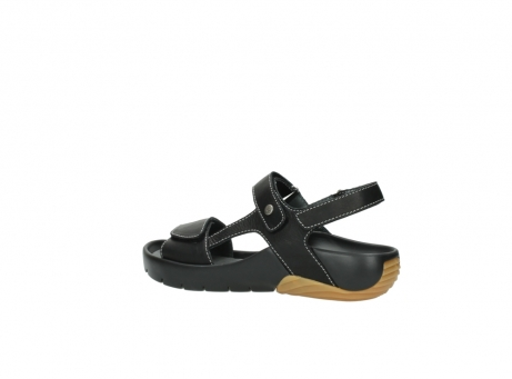 wolky sandalen 1126 bullet 200 zwart leer_3