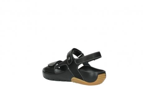 wolky sandalen 1126 bullet 200 zwart leer_4