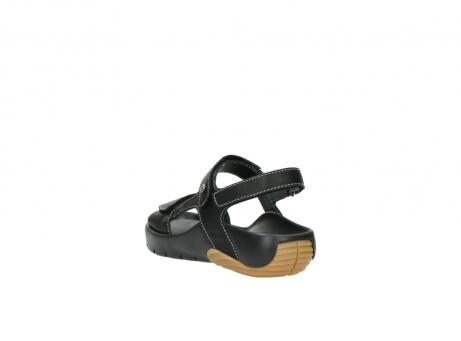 wolky sandalen 1126 bullet 200 zwart leer_5