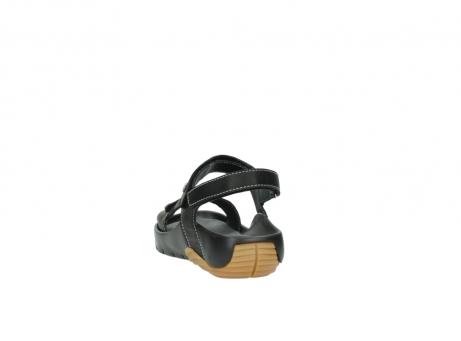 wolky sandalen 1126 bullet 200 zwart leer_6
