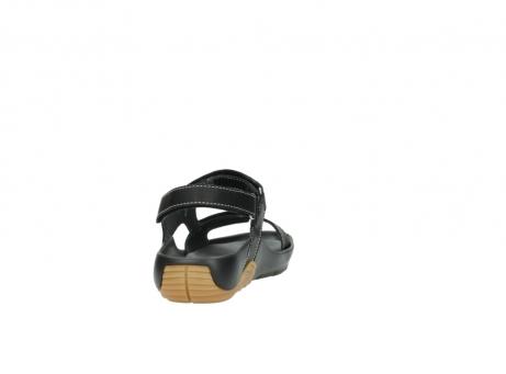 wolky sandalen 1126 bullet 200 zwart leer_8