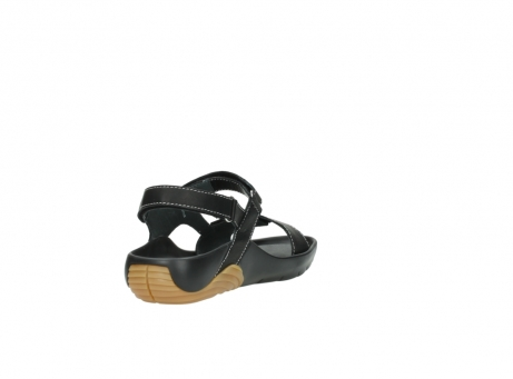 wolky sandalen 1126 bullet 200 zwart leer_9