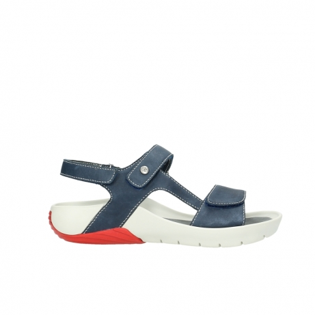 wolky sandalen 1126 bullet 282 denim blauw leer