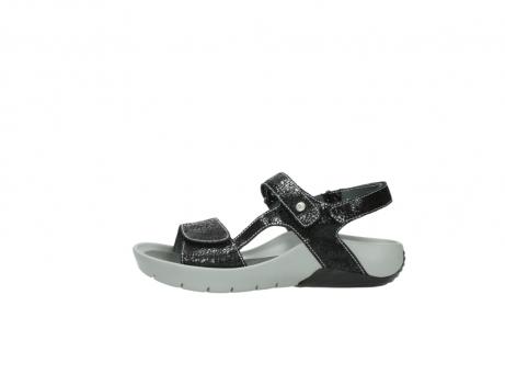 wolky sandalen 1126 bullet 400 zwart craquele leer_1