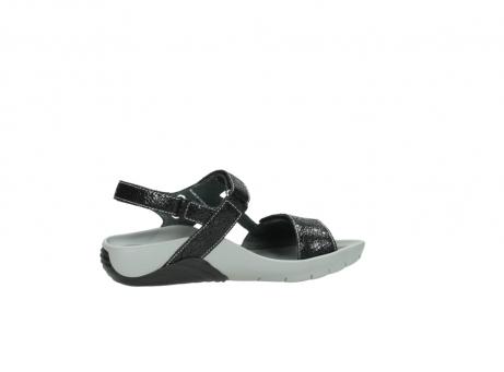 wolky sandalen 1126 bullet 400 zwart craquele leer_12