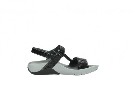wolky sandalen 1126 bullet 400 zwart craquele leer_13