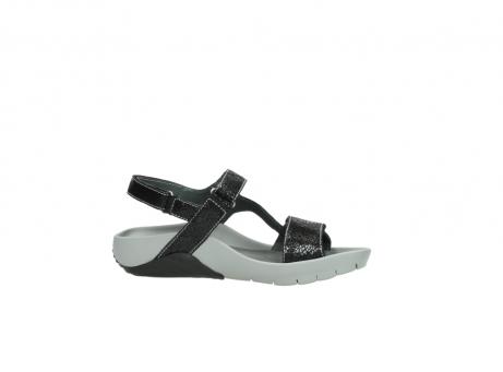 wolky sandalen 1126 bullet 400 zwart craquele leer_14