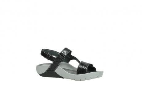 wolky sandalen 1126 bullet 400 zwart craquele leer_15