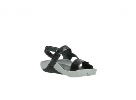 wolky sandalen 1126 bullet 400 zwart craquele leer_16