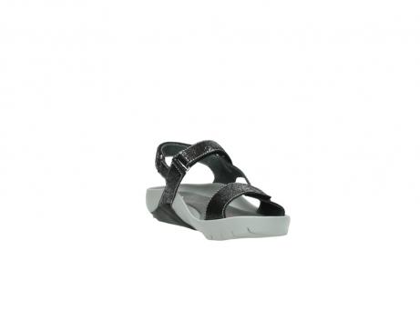 wolky sandalen 1126 bullet 400 zwart craquele leer_17
