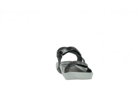 wolky sandalen 1126 bullet 400 zwart craquele leer_18