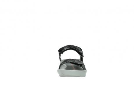 wolky sandalen 1126 bullet 400 zwart craquele leer_19
