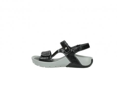 wolky sandalen 1126 bullet 400 zwart craquele leer_2