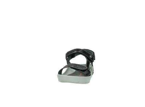 wolky sandalen 1126 bullet 400 zwart craquele leer_20