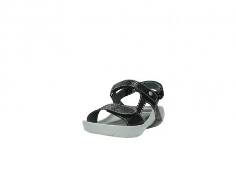 wolky sandalen 1126 bullet 400 zwart craquele leer_21