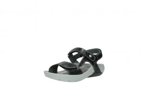 wolky sandalen 1126 bullet 400 zwart craquele leer_22