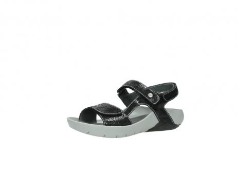 wolky sandalen 1126 bullet 400 zwart craquele leer_23