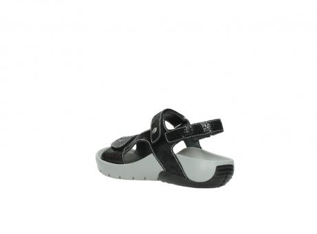 wolky sandalen 1126 bullet 400 zwart craquele leer_4