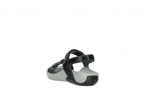 wolky sandalen 1126 bullet 400 zwart craquele leer_5