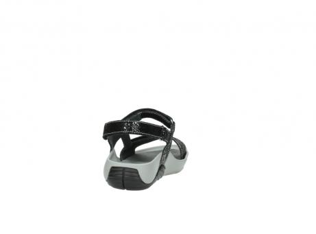 wolky sandalen 1126 bullet 400 zwart craquele leer_8