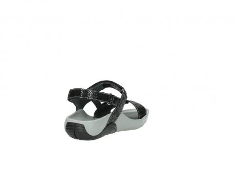 wolky sandalen 1126 bullet 400 zwart craquele leer_9