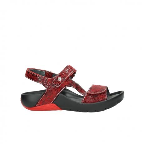 wolky sandalen 1126 bullet 450 rood craqule leer