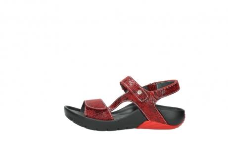 wolky sandalen 1126 bullet 450 rood craqule leer_1