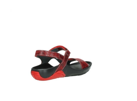 wolky sandalen 1126 bullet 450 rood craqule leer_10
