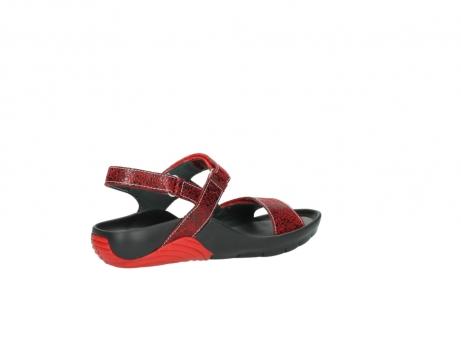 wolky sandalen 1126 bullet 450 rood craqule leer_11
