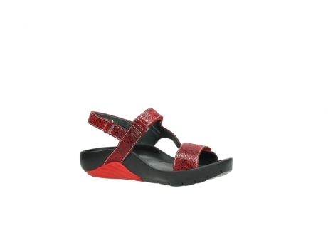 wolky sandalen 1126 bullet 450 rood craqule leer_15