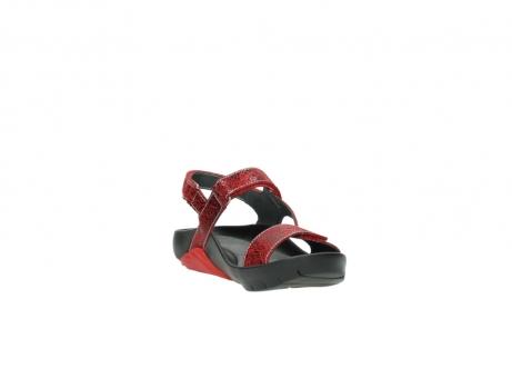 wolky sandalen 1126 bullet 450 rood craqule leer_17