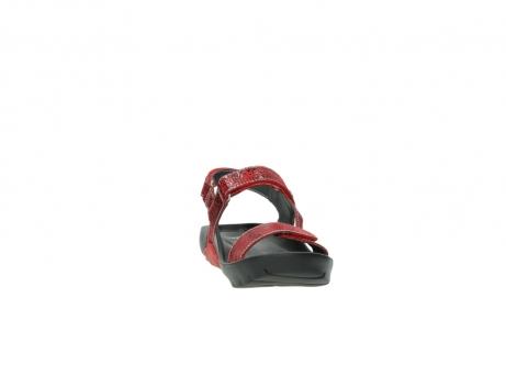 wolky sandalen 1126 bullet 450 rood craqule leer_18