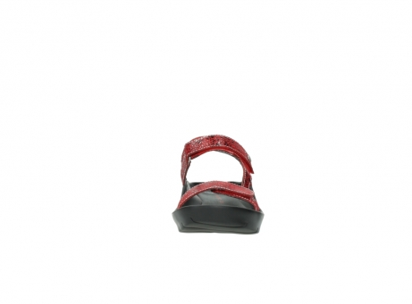 wolky sandalen 1126 bullet 450 rood craqule leer_19