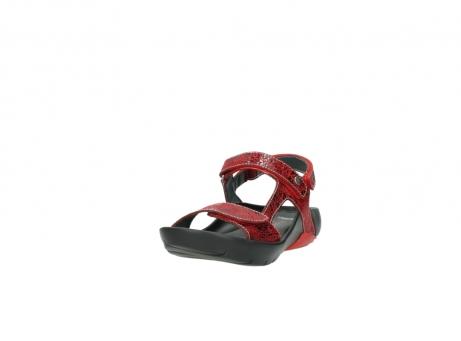 wolky sandalen 1126 bullet 450 rood craqule leer_21