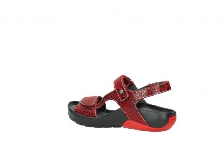 wolky sandalen 1126 bullet 450 rood craqule leer_3