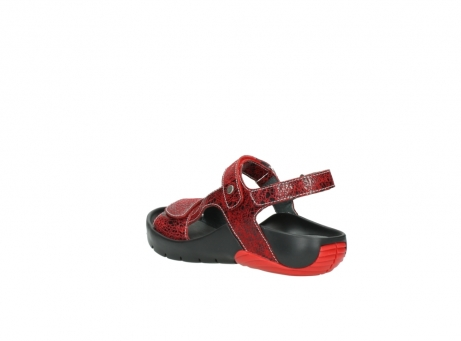 wolky sandalen 1126 bullet 450 rood craqule leer_4