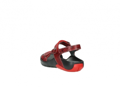 wolky sandalen 1126 bullet 450 rood craqule leer_5