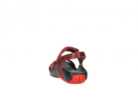 wolky sandalen 1126 bullet 450 rood craqule leer_6