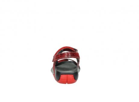 wolky sandalen 1126 bullet 450 rood craqule leer_7