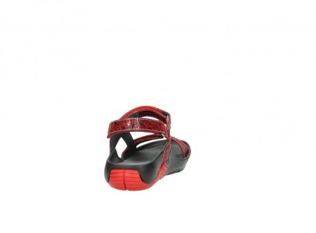 wolky sandalen 1126 bullet 450 rood craqule leer_8