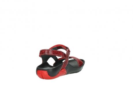 wolky sandalen 1126 bullet 450 rood craqule leer_9