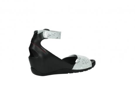 wolky sandalen 1175 ka 413 zilver metallic leer_11