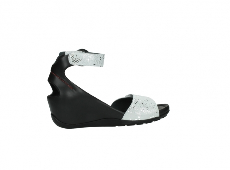 wolky sandalen 1175 ka 413 zilver metallic leer_12