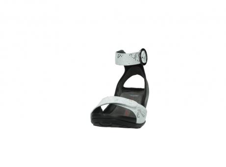 wolky sandalen 1175 ka 413 zilver metallic leer_20