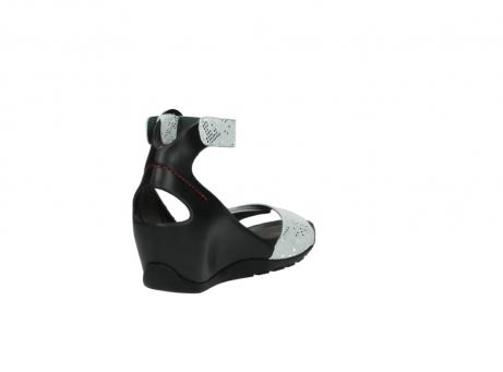 wolky sandalen 1175 ka 413 zilver metallic leer_9